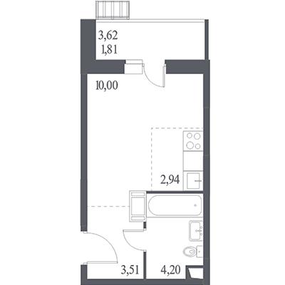 Квартира-студия в ЖК «Пригород Лесное»