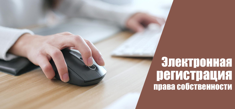 Что такое электронная регистрация права собственности