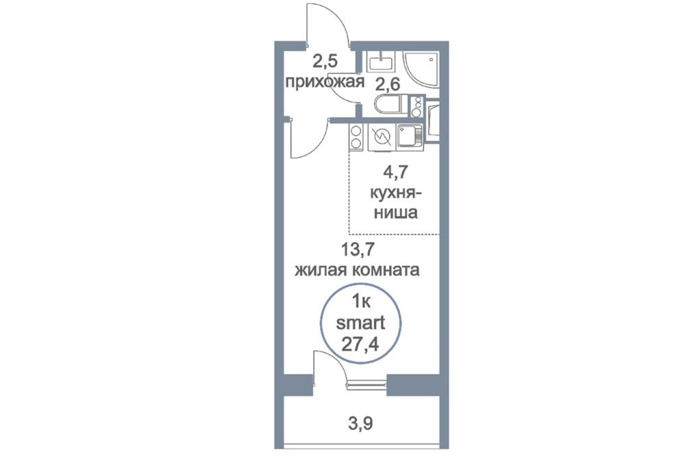 ЖК «Первый Зеленоградский» | Планировки | Квартира-студия
